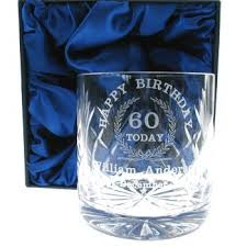 60 birthday gifts 60th birthday whisky glass for him personalised 60th