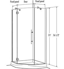 38 Neo Angle Shower Door Fleurco Platinum Neo 38 X 38 Neo Angle Shower Door Glass To