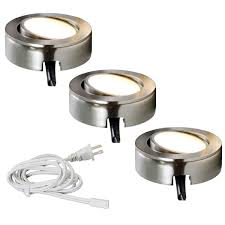 dimmable led puck lights 120v dimmable led under cabinet high output 3 puck light kit