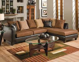 Accent Pillows For Brown Sofa by Brown Couch With Chaise Bicast Chocolate Two Piece Sectional
