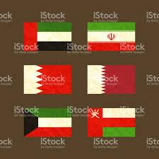 National Flag Iran Flaggen Der Vereinigten Arabischen Emirate Iran Bahrain Kuwait