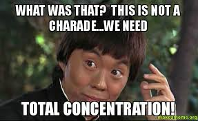 Concentration Meme - what was that this is not a charade we need total concentration