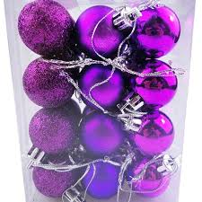 24pcs lot 30mm christmas tree ball bauble hanging xmas party