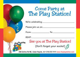 invitations thank you cards the play station children s