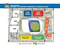 Yankee Stadium Floor Plan Marlins Park Parking Mlb Com