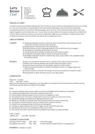 Example Of Personal Resume by 42 Examples Of Chef Resume Template Vntask Com