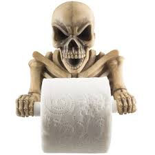 skeleton halloween decorations amazon com evil skeleton decorative toilet paper holder in scary