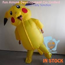 Halloween Mascot Costumes Halloween Cute Inflatable Pikachu Mascot Costume Buy