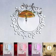 mirror wall stickers self adhesive 3d art diy wall paper