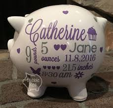 customized piggy bank baby personalized piggy banks best 25 personalized piggy bank ideas on