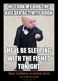 Godfather Baby Meme - comicgem just for fun baby godfather on activity book