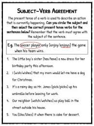 subject verb agreement worksheets free worksheets library