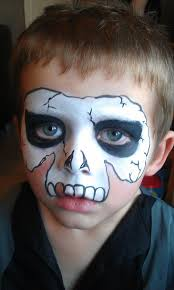 skeleton face paintings for halloween face painting by claire face painting