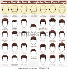of the hairstyles images set mens hairstyles different types faces stock vector 370483229
