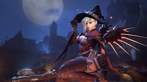 free live halloween wallpaper ghoul ana halloween pumpkin candy overwatch skin wallpaper