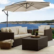 Patio Furniture Set With Umbrella - guide weighing down an offset cantilever umbrella outsidemodern