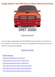 dodge dakota 1997 2000 service repair manual by jean collyer issuu
