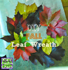 fun fall leaf wreath tutorial with real leaves kids creative chaos