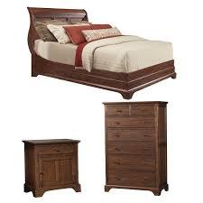 cresent furniture retreat cherry platform configurable bedroom set