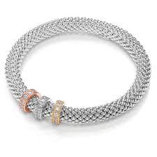 bracelet mesh silver sterling images Ladies bbt021 bouton joie mesh bracelet francis gaye jewellers jpg