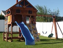 Backyard Playground Slides Backyard Playground Top Notch Turf Kalispell Mt