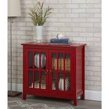 Small Glass Door Cabinet Simple Living Portland Glass Door Cabinet Free Shipping Today