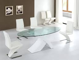 oval table and chairs white glass table and chairs image of modern glass dining table oval