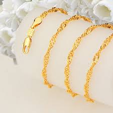 trendy gold chain necklace images New trendy 18k gold plated chains necklace copper jewelry with jpg