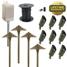 Landscape Lighting Kits Low Voltage Outdoor Path Light Sets