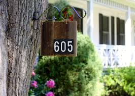 barn wood house number sign love of home