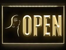 Open Light Up Sign Beauty Shop Open Signs Ebay