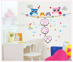 Owl Pictures For Kids Room by Free Shipping Cartoon Diy Owl Photo Frame Wall Stickers For Kids