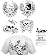 skulls clip 53 free vectors for designs