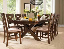 powell kraven dining set dark hazelnut pw 713 417 din set at
