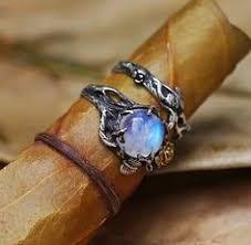 Moonstone Wedding Ring by Rainbow Moonstone Engagement Ring Moonstone Statement Promise