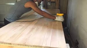Woodworking Bench Top Surface by Reinforcing The Workbench With Flooring Youtube