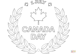 canada day emblem coloring page free printable coloring pages