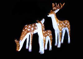 Christmas Reindeer Garden Decorations by Garden Decoration Acrylic Outdoor Led Standing Plush Christmas