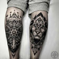 leg wrist pattern tattoos mandala