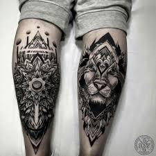 leg wrist pattern tattoos mandala geometric