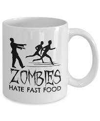 novelty coffee mugs zombies fast food novelty coffee mug my dirty mug