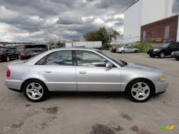 light silver metallic 2000 audi a4 2 8 quattro sedan exterior