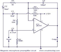 magnetic pickup pre amplifier circuit electronic circuits and
