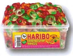 party favours 1 x tub haribo wholesale discount candy box party
