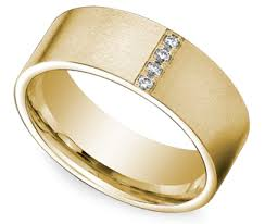 mens yellow gold wedding bands pave men s wedding ring in yellow gold 8mm http www brilliance