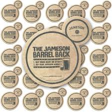 jameson irish whiskey home bar pub beer mats coasters pack of 25