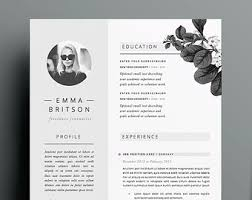 template for cover letter for resume cv template etsy
