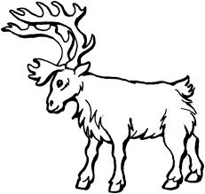 deer 5 coloring free printable coloring pages