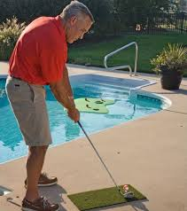 aqua golf floating putting green water backyard pool floating