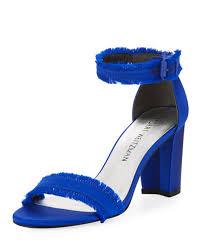 Cobalt Blue High Heels Blue Block Heel Sandal Neiman Marcus
